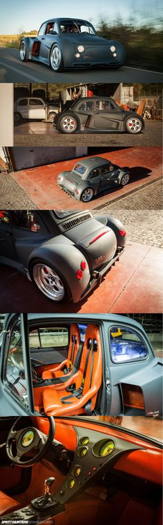 Oemmedi Meccanica Fiat 500 with a Mid-Mounted 6.2 Litre V12 Lamborghini Engine