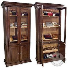 Antique Cigar Tobacco Humidor Side Table Cabinet Ship