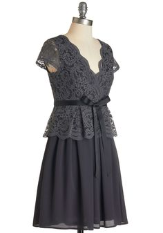 Gray Grey Bridesmaid Dress | $85 | ModCloth | wedding ceremony reception bridesmaids maid of honor silver