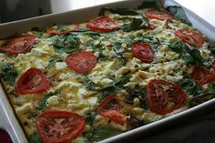 """24/7 Low Carb Diner: A """"Classical"""" Brunch Casserole filled with Italian sausage, feta cheese and spinach."""