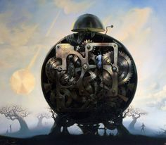 Millenium Watchman 1999 by Vladimir Kush - Giclee on Canvas