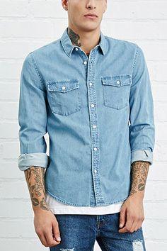 Pocket-Front Denim Shirt