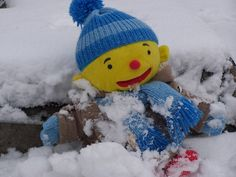Puk in de sneeuw