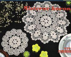 Crochet Knitting Artesanato: Guardanapos - os irlandeses e as rendas Bruges