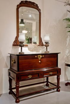 Stylish antique furniture from The Past Perfect Collection Interior Design Boards, Decor Interior Design, Interior Decorating, Colonial Furniture, Antique Furniture, Guest Toilet, Dressing Tables, H & M Home, Antique Stores