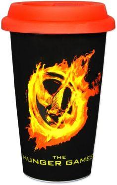 "The Hunger Games Movie - ""Burning Pin"" Travel Coffee Mug. $11.95."