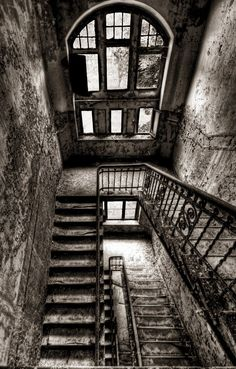 Black and White stairwell.