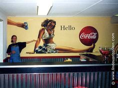 Wallpainting of Coco Cola