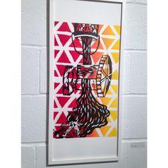 Interpretacion de Majestad Negra-Luis Pales Matos.  Afro-caribbean poetry representation. Print. Printmaking.