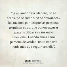 Cuando un amor es verdadero...