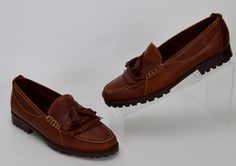 Cole Haan Country Women's 8 N Brown Leather Pinch Toe Kiltie Tassel Loafers #ColeHaan #LoafersMoccasins #Casual