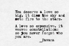 Expansive love.