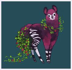 Tea Spirit of the Month / April / Ambrosia Plum it's an olpakapi (alpaca/okapi)
