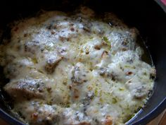 Dutch Oven Pesto Chicken - forget the hambugers & hotdogs!  campsite cooking just got good!