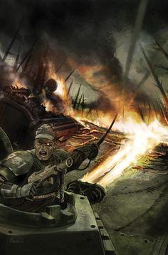 Imperial Guard - Warhammer 40k - Astra Militarum - Cadian Shock Troops - Chimera