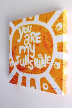 You Are My Sunshine Giclee Art Print of Original Painting Beach Decor Surf Decor Beach Surf Baby Nursery Beach Nursery Decor Kids Room Decor