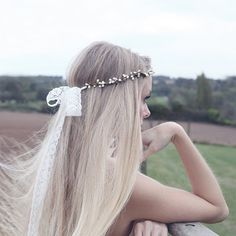 hair crown tied with lace