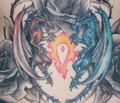 Fire And Ice Rose Tattoo Fire and ice dragons by