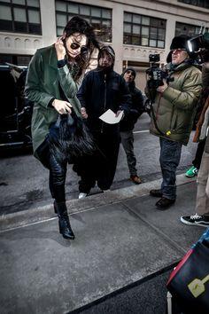 Kendall arriving at Soho Trump, NYC. @WAGNER_AZ