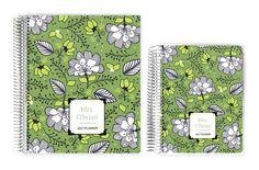 Teacher Planners - Green and White Floral Custom Teacher Planner