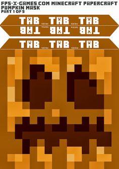 Papercraft Minecraft Pumpkin - Halloween Cosplay Mask V2
