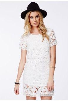 Shiloh Crochet Shift Dress