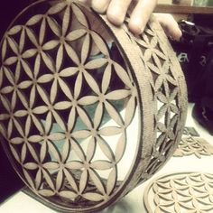 Flower of Life -via Laser Cutter, AutoCAD, and Spain, with Love by East Hawaii