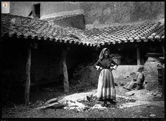 Cortile e porticato di abitazione tradizionale