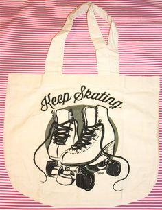Ecobag nude | Keep Skating preto R$20,00 Skating bags