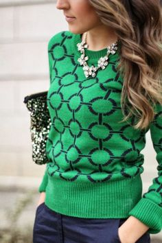 Green sweater - Fashion and Love