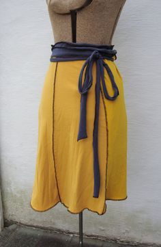 Custom Upcycled T-Shirt Wrap Skirt. wouldn't it be cool cut in layers?
