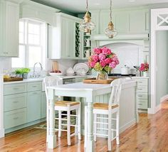 seafoam kitchen
