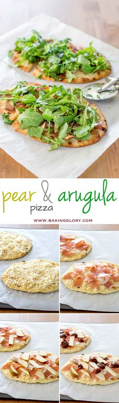 In just 15 minutes you can have this delicious pear and arugula pizza on your table. Perfect for when you're craving pizza, but want something without the guilt.