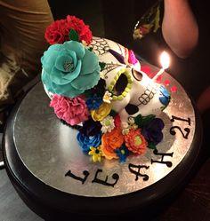 Sugar Skull Cake, Day of the dead 21st Cake