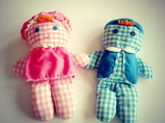 vintage Fisher Price Lolly & Cholly dolls 1970s by OliversForest