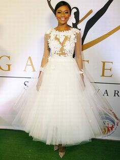 Bonang shined bright like a diamond at the 2014 gauteng sports awards 2 In 1 Wedding Dress, African Wedding Dress, Dream Wedding, Wedding Frocks, Wedding Gowns, Beautiful South African Women, African Print Skirt, Red Carpet Gowns, Tribal Fashion