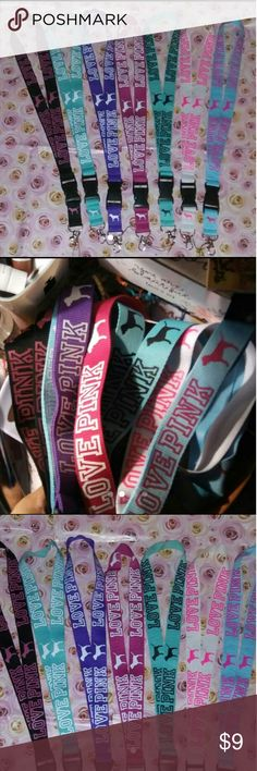 VS PINK LANYARDS Brand New?Firm&Lowest  ?Victoria Secret PINK LANYARDS? COLORS/?BLACK&PINK?TEAL&WHITE ?LITE PURPLE&WHITE?PINK&WHITE ?TEAL&BLACK?WHITE&PINK?TEAL&PINK   ?PLEASE READ DESCRIPTION BEFORE PURCHASING! I WILL NOT CANCEL ORDER DUE TO BUYER NOT READING DESCRIPTION ?This Listing is for 1 LANYARD After u Purchase Send Me a Message W/ Wat Color u Would Like!!!!if U do Not Message Me With Color I Will pick Color for U!!!  ?u Will Receive a VS PINK Sticker as a Small Gift With your VS PINK…