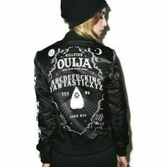 I just discovered this while shopping on Poshmark: Killstar ouija goth bomber jacket. Check it out!  Size: M, listed by sorgens_kammer