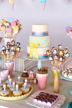 Festa infantil com tema sorveteria