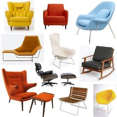 Mid century modern lounge chair is best from Eames. Eames lounge chair mid century designs can surely become a fine home decor boost with style and function Danish Modern Furniture, Mid Century Modern Furniture, Modern Chairs, Modern Lounge, Modern Armchair, Furniture Styles, Furniture Design, 60s Furniture, Bedroom Furniture