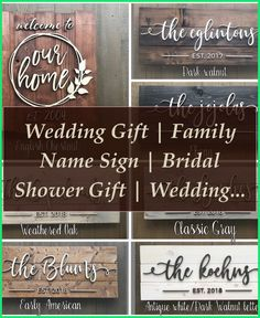 Learn about operating at Wood and Wood Signs. Sign up with LinkedIn today totally free. See who you understand at Wood and Wood Signs, utilize your ex... Wood Signs For Home, Custom Wood Signs, Home Signs, Last Name Signs, Family Name Signs, Woodworking Equipment, Woodworking Plans, Wedding Shower Gifts, Wedding Gifts