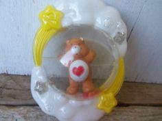 Rare Vintage Care Bear Nursery Baby Rattle by silverliningtoys, $16.95