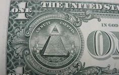 """The image of the dollar bill is evidence that they [our secret Controllers] have taken over the US financial system. If you study secret societies, you should have a general idea of what the Great Seal symbol stands for. The pyramid with the """"all seeing eye"""" on top is one of their occult symbols of power. If you look closely at the pyramid, you should see 13 sections or stairs. The number 13 is a very important number in the religion of secret societies."""