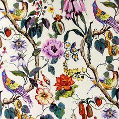 Draperii Catifelate cu Flori Exotice