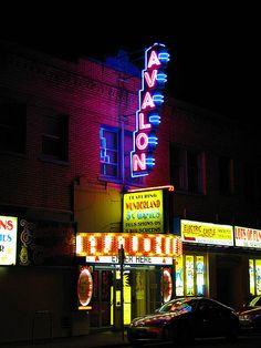 The Avalon Theatre and Electric Castle Wonderland Arcade. SE Belmont in Portland, Oregon