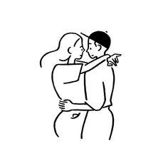 "Yu Nagaba on Instagram: ""Girl and Boy. #girl #boy #yunagaba #kaerusensei #長場雄"" Minimal Drawings, Girly Drawings, Easy Drawings, People Illustration, Character Illustration, Graphic Illustration, Minimalist Drawing, Minimalist Art, Sketch Inspiration"