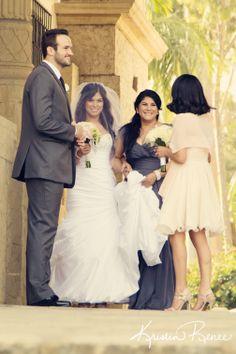 bride right before the ceremony with family, santa barbara courthouse wedding, kristin renee photographer, krisreneephoto,
