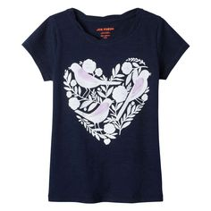Kid Girls' Graphic Twist Tee from Joe Fresh. Time for more tee. Ours has a twist crew neck and cool details. Only $14.