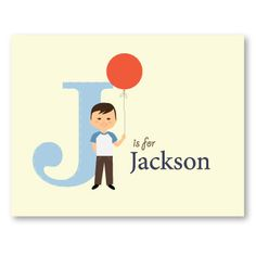 personalized print for K's big boy room