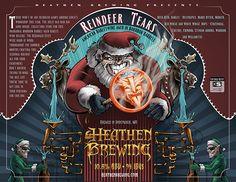 'Reindeer Tears' art and design by Kyle Shold. ©Heathen Brewing.